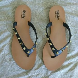 Studded flip flop sandals (size 7)